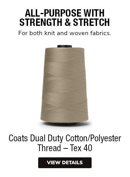 Coats Dual Duty All-Purpose Cotton/Polyester Thread with Strength and Stretch