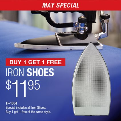 Buy 1 Get 1 Free Iron Shoes $11.95 TF-1004 / Special includes all Iron Shoes. Buy 1 get 1 free od the same style.