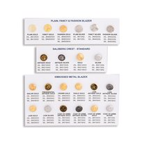 WAWAK Assorted Metal Blazer Buttons Sample Button Card