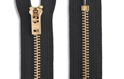 YKK Closed-End Non-Separating Brass Pant Skirt Dress Zippers