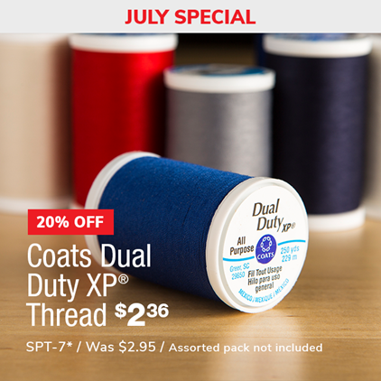 20% Off Coats Dual Duty XP Thread