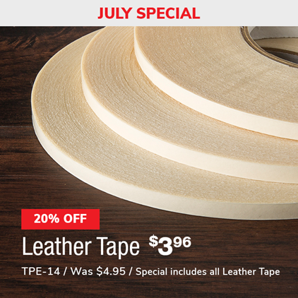 20% Off Leather Tape