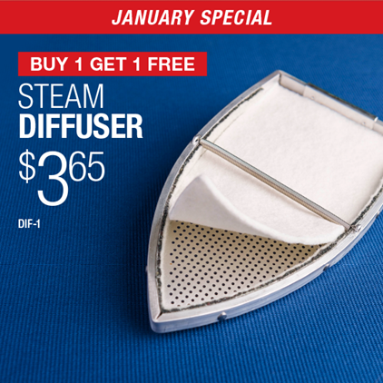 Buy 1 Get 1 Free Steam Diffuser $3.65 / DIF-1.