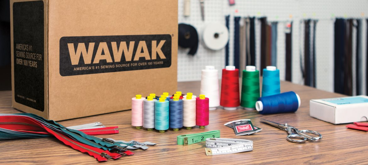 WAWAK Sewing Supplies Shipping Box Open Order Sewing Supplies Thread, Needles, Chalk, Measuring Tapes